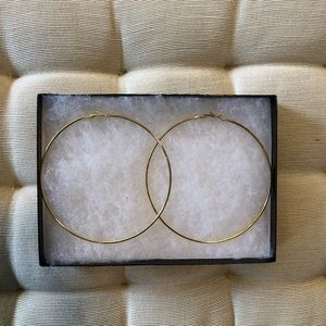Jewelry - Gold Plated Hoops. NWT & Never Worn.